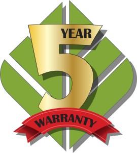 Ecofabrix leaf 5 year warranty logo
